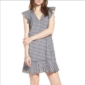 Madewell Gingham Drop Waist Dress